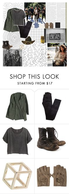 """""""hell's hot for good reason"""" by lucidmoon ❤ liked on Polyvore featuring Rick Owens, H&M and Topshop"""