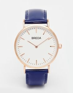 Breda Classic Minimalist Leather Watch