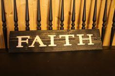 Faith Sign by SimplymadesignsbyB on Etsy, $28.00
