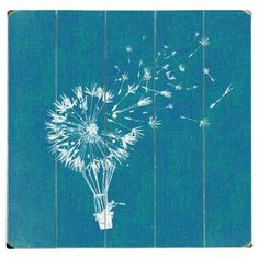 Dandelion hot air balloon. That would be a cool painting.