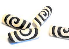 Funky Black Spiral Glow In the Dark Dread Bead on Etsy, $4.15 :: Shop DreadStop.Com for Leather Dreadlock Cuffs, Ties & Dread Beads #dreadstop