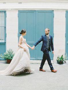 Romantic Paris Wedding Elopement Inspiration