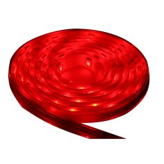 Lunasea Flexible Strip LED - 2M w/Connector - Red - 12V