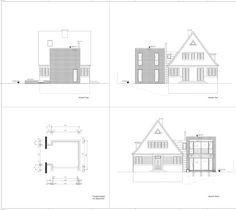 Ansichten - Anbau an Einfamilienhaus aus den 20er Jahren Floor Plans, New Construction, Detached House, Architecture, Homes, Floor Plan Drawing, House Floor Plans