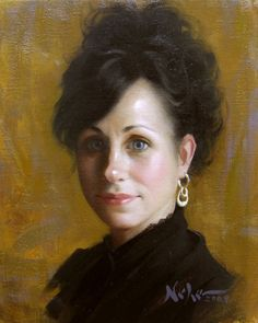 Painting by Brian Neher - Head Study of Jacquie, Oil on Linen