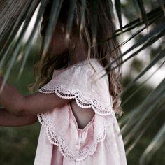 Beautiful details, lace-trimmed sleeve. #estella #kids #fashion