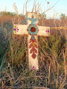 Handmade cross in a field of New Mexico Crosses Decor, Wall Crosses, Old Rugged Cross, Sign Of The Cross, Religion, Land Of Enchantment, Arte Popular, Southwest Style, Desert Rose