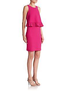 Trina Turk Kayleen Ruffle Overlay Dress