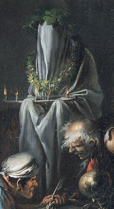 Salvator Rosa - Witches at their Incantations Witch Painting, Renaissance Kunst, Satanic Art, Esoteric Art, Macabre Art, Occult Art, Classic Paintings, Creepy Art, Classical Art