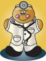 Doctor Gingerbread man.  https://www.facebook.com/pages/Magic-Wonder-Tags-owner-Donna-Siegrist/180355825327681?ref=hl  Some products with this design are also available in my store at www.zazzle.com/designsbydonnasiggy*  #gingerbread #clipart #doctor #christmas