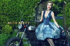 Natalia Vodianova for Miss Sixty's fall-winter 2015 advertisements by Mert & Marcus
