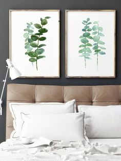 Inhale Exhale Print Yoga Wall Art Wall Prints Inhale by printabold Could totally make this with a good paint marker (and good handwriting) Suite Principal, Suites, Botanical Art, Botanical Bedroom, Wall Prints, Free Art Prints, Bed Pillows, Master Bedroom, Bedroom Wall