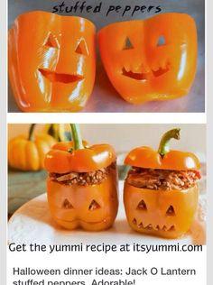 Pumpkin Stuffed Peppers