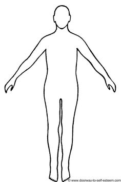 human figures body outline sample medical stick illustration charts feelings parts character draw interpretation therapy outlines