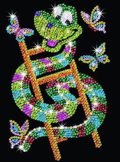 KSG Sidney Snake Sequin Art Junior