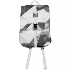 Shop White prelude Rucksack by Kamo Vamo | Print All Over Me