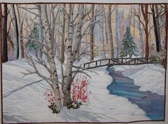 Winterberries on Winter Green by PATRICIA BRUNO
