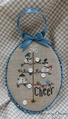 Cute finish for a cross-stitched ornament: the pattern can be found here -> http://abcstitch.com/designers_php/designers.php?page=