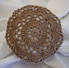 I love to crochet and here is a finished product of my work for you to enjoy. I crocheted this hair net by hand using light brown size 10 cotton cro Love Crochet, Learn To Crochet, Crochet Flowers, Hand Crochet, Crochet Snood, Crochet Stitches, Crochet Patterns, Diy Crochet Hairstyles, Crochet Hair Styles