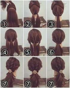 Simple Ponytail with a Twist