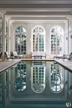 Indoor Swimming Pool Ideas - You want to build a Indoor swimming pool? Here are some Indoor Swimming Pool designs and ideas for you. Luxury Swimming Pools, Luxury Pools, Indoor Swimming Pools, Swimming Pool Designs, Lap Swimming, Lap Pools, Backyard Pools, Dream Pools, Pool Decks