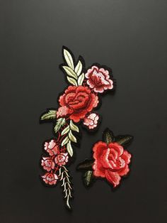 Embroidery Patch-Iron on Embroidery-Applique Iron by RUNWAYDIY