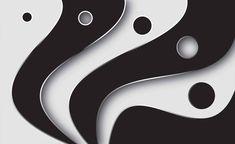 Abstract Modern Pattern Black White Fotótapéta, Fali tapéta, Tapéta az Europosters.hu-n Black And White Wallpaper, Black White, Paper Wall Art, Collectible Figurines, White Walls, Contemporary Artists, Wall Murals, Colours, Modern