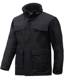 Heavy-duty padded parka built for rough work in cold conditions. Extremely durable water-resistant shell fabric and warm padding combine to offer superior protection and comfort. Enjoy reinforced functionality, great insulation and amazing fit.