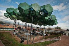 """Giancarlo Mazzanti Arquitectos, the """"Cubierta Cazucá"""", Bogota, Pvc Canopy, Ikea Canopy, Window Canopy, Wooden Canopy, Canopy Curtains, Backyard Canopy, Canopy Bedroom, Canopy Outdoor, Gazebo"""