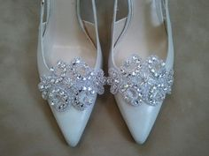 Wedding+Shoe+Clips++Bridal+&+Bridesmaids+by+LucyBridalBoutique,+$30.00