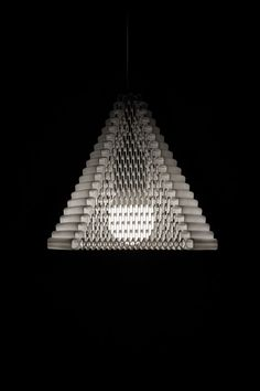 ZooM is a flexible, 3D printed lampshade by Michiel Cornelissen