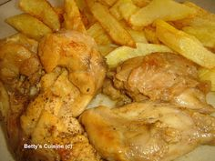 Betty's Cuisine: Κουνέλι τσιγαριαστό Shrimp, Sausage, Food And Drink, Meals, Chicken, Cooking, Greece, Rabbit, Cucina