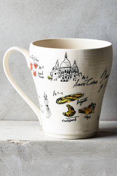City Vignette Mug - anthropologie.com