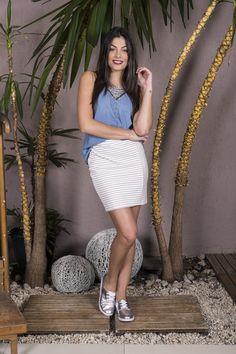 #debrummodas #verão #coleção #saia #listras #stripes #modafeminina #moda #style #estilo #fashion