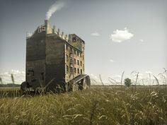 Escaping House - Erik Johansson Photography