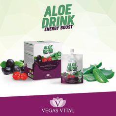 Energy Drinks gelten im Allgemeinen als energiesteigernd. Vegas Vital hat sich diesem Thema gewidmet und heraus kam unser Energy Boost, ein enizigartiges, patentiertes und zu 100% biologisches Nahrungsergänzungsmittel. Seine Vorteile sind: • Energie und Wohlbefinden für den Alltag • Besteht aus natürlichen Zutaten-Ohne Zusatz künstlicher Substanzen • Komplett vegan, da rein pflanzlich • Zutaten alle aus biologischem Anbau • Niedriger Glykämischer Index Aloe Drink, Energy Drinks, Body Lotion, Aloe Vera, Vegas, Personal Care, Organic Gardening, Benefits Of, Feel Better