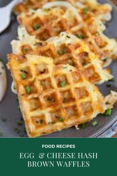 INGREDIENTS · 1 package Simply Potatoes Shredded Hash Browns · 3 eggs · cup milk · 1 cup shredded sharp Cheddar Cheese · cup fresh chopped chives plus some for garnishing · Salt & pepper · Sour cream for serving, if desired Parmesan Soup, Garlic Parmesan Chicken, Chicken Curry, Hashbrown Waffles, Kids Meals, Easy Meals, Prosciutto Pizza, Seafood Lasagna, Vegan Burrito