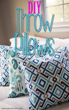 DIY sewless Throw Pillows