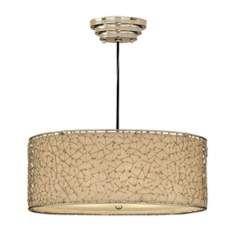 Lamps Plus Brandon Collection 3 light polished silver pendant