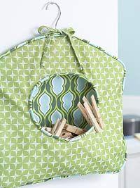 How To: Fabric Clothespin Caddy. Com fer una bossa per les agulles d'estendre