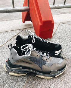 """4dc215811ede MR PORTER on Instagram  """" balenciaga s Triple S helping us stomp out the  Sunday scaries 👟"""""""