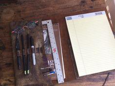 Sketchfolio Refillable Sketchpad Pencil Case por LUSCIOUSLEATHERNYC