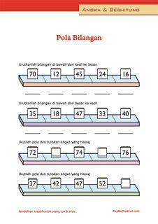 belajar anak kelas 1 SD, berlatih matematika menggunakan pola berulang untuk angka