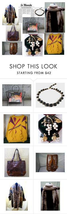 """""""Le Monde"""" by blingblingfling ❤ liked on Polyvore featuring Trifari and vintage"""