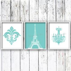 Fleur De Lis Eiffel Tower Chandelier Set of 3  by lulusimonSTUDIO, $40.00