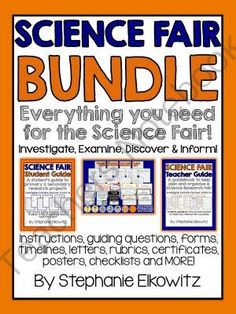 Science Fair Bundle: Everything you need for the Science Fair! from Stephanie Elkowitz on TeachersNotebook.com -  - Guides, editable letters, rubrics and more - all to help you plan and carry out a successful Science Fair!
