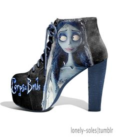 Fabulous! Tim Burton Corpse Bride Shoes