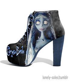 Fabulous! Tim Burton Corpse Bride Shoes