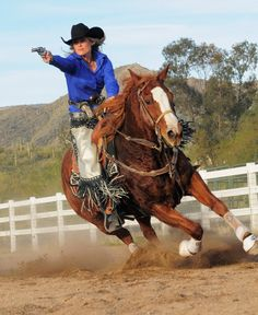 In 2009, Kenda Lenseigne made history when she became the first woman in Cowboy Mounted Shooting Association (CMSA) history to win the Overall at a World Championship, beating all male and female competitors to claim the title. Read the Gun Digest Interview! - Corey