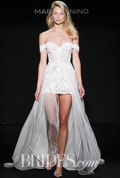 Brides.com: . Wedding dress by Mark Zunino for Kleinfeld